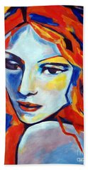 Hand Towel featuring the painting Reverie by Helena Wierzbicki