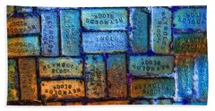 Reynolds Blocks - Vintage Art By Sharon Cummings Bath Towel