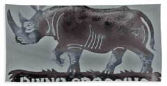 Hand Towel featuring the photograph Rhino Xiv by Larry Campbell