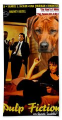 Rhodesian Ridgeback Art Canvas Print - Pulp Fiction Movie Poster Hand Towel