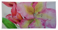 Rhodie With Dew I Hand Towel