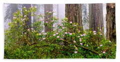 Rhododendron Flowers In A Forest, Del Hand Towel