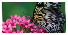 Rice Paper Butterfly Bath Towel by Joann Vitali
