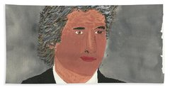 Hand Towel featuring the painting Richard Gere by Tracey Williams