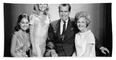 Richard Nixon And Family Bath Towel