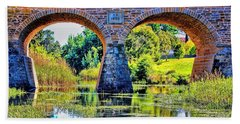 Richmond Bridge Bath Towel by Wallaroo Images