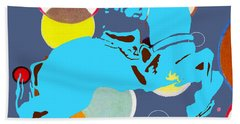 Hand Towel featuring the mixed media Ride Em Cowboy by Beth Saffer