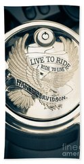 Ride To Live Hand Towel