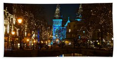 Rijksmuseum At Night Hand Towel by Jonah  Anderson