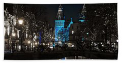 Rijksmuseum In Blue Hand Towel by Jonah  Anderson