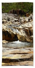 Rio On Pools Hand Towel by Kathy McClure