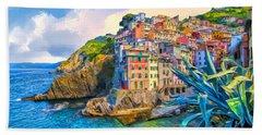 Riomaggiore Morning - Cinque Terre Hand Towel