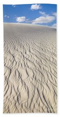 Rippled Dunes In White Sands Hand Towel