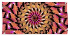 Bath Towel featuring the drawing Rippled Source Kaleidoscope by Derek Gedney