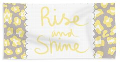 Rise And Shine- Yellow And Grey Hand Towel