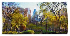Rittenhouse Square In The Spring Hand Towel