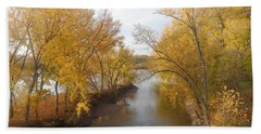 River And Gold Hand Towel