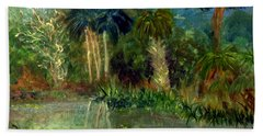 River At Riverbend Park In Jupiter Florida Bath Towel by Donna Walsh