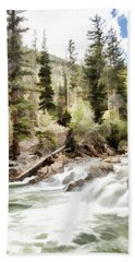 River Boulders Bath Towel