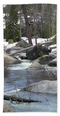 Hand Towel featuring the photograph River Cabin by Bobbee Rickard