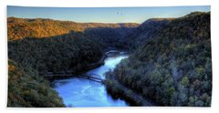 Bath Towel featuring the photograph River Cut Through The Valley by Jonny D