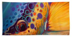 River Orchid - Brown Trout Hand Towel by Savlen Art