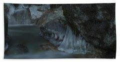River Stalactites Hand Towel by Rod Wiens