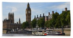 River Thames View Hand Towel