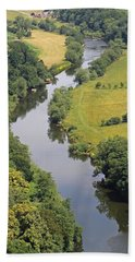 River Wye Hand Towel by Tony Murtagh