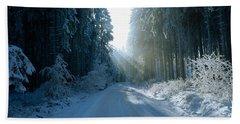 Road, Hochwald, Germany Hand Towel