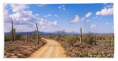 Road, Saguaro National Park, Arizona Bath Towel