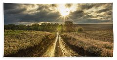 Road To Nowhere Hand Towel by Aaron J Groen