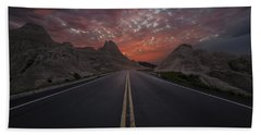 Road To Nowhere Badlands Hand Towel