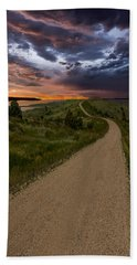 Road To Nowhere - Stormy Little Bend Hand Towel