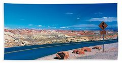 Road Valley Of Fire State Park Overton Bath Towel