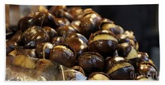 Bath Towel featuring the photograph Roasted Chestnuts by Lilliana Mendez