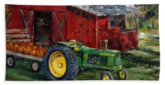 Rob Smith's Tractor Bath Towel by Lee Piper