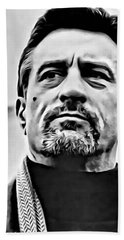 Robert De Niro Portrait Bath Towel