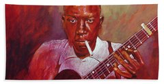 Robert Johnson Photo Booth Portrait Hand Towel