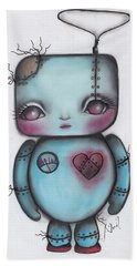 Robot Hand Towel by Abril Andrade Griffith