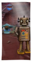 Robots With Attitudes  Hand Towel