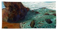 Rock Beach And Sea Bath Towel