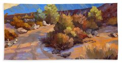 Rock Cairn At La Quinta Cove Hand Towel by Diane McClary