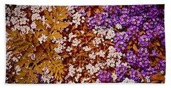 Rock Cress Flowers Hand Towel