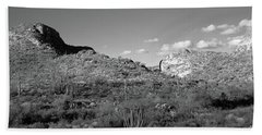 Rock Formations, Ajo Mountain Drive Hand Towel