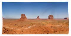 Rock Formations In A Desert, Monument Bath Towel