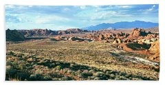 Rock Formations In A Desert, Valley Bath Towel