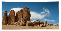 Rock Formations In The Pacana Guardians Bath Towel