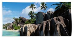 Rock Formations On The Beach, Anse Hand Towel