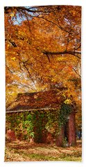 Hand Towel featuring the photograph Rock Of Ages Surrouded By Color by Jeff Folger